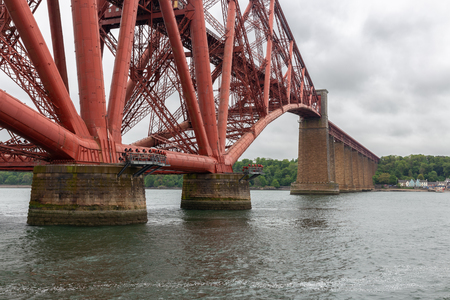 Forth Railway Bridge over Firth of Forth near Queensferry in Scotland