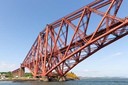 Forth Bridge, railway bridge over Firth of Forth near Queensferry in Scotland