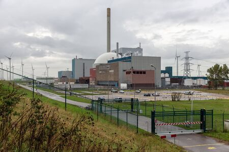 Nuclear power plant in the Netherlands near Borssele 写真素材