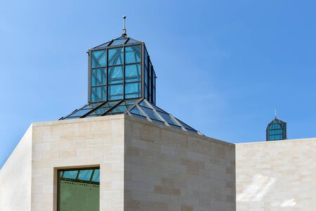 Glass roof of Contemporary Art Museum of Luxembourg city Archivio Fotografico