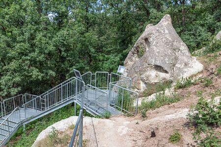 Pathway along Beehive stones or beehive rocks near Szomolya, Hungary