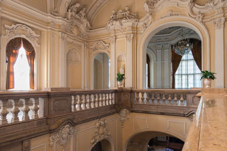 Budapest, Hungary - July 14, 2019: Interior Hungarian Agricultural Museum inside Vajdahunyad castle Budapest Redactioneel