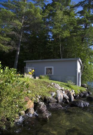 Bouthouse op Little Squam Lake, New Hampshire
