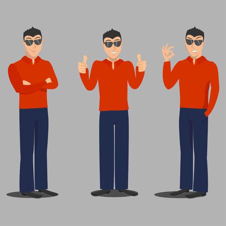 stylish man: Stylish man in red shirt.