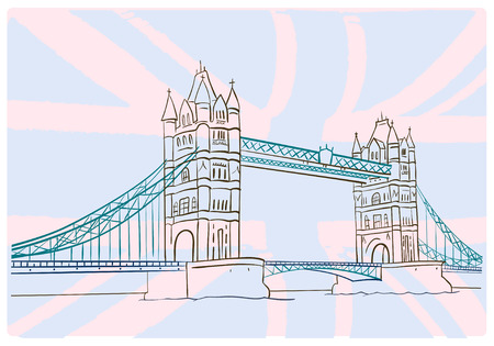 london tower bridge: Hand draw picture of Tower Bridge. London.