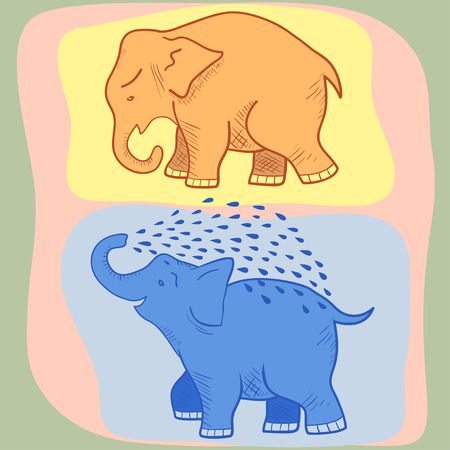 chubby cartoon: Picture of a funny cartoon elephant.