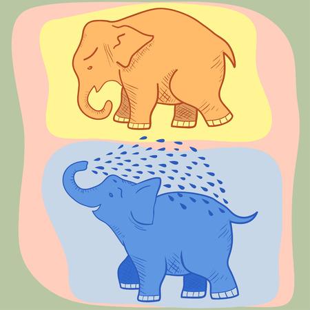 cute elephant: Picture of a funny cartoon elephant.