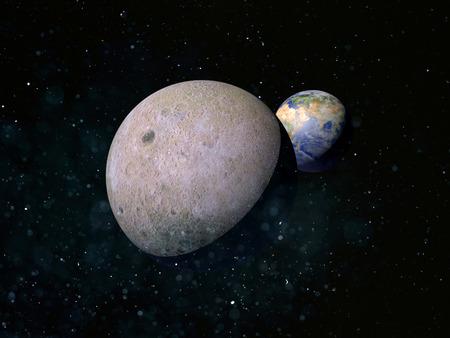 Moon satellite planet Earth Banco de Imagens