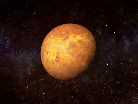 The planet Venus in space