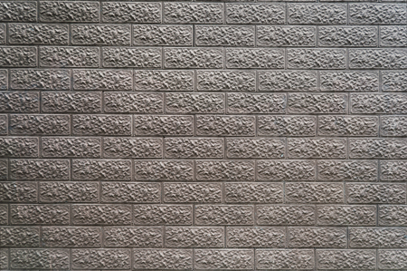 wall of decorative bricks close up for texture, background, text or image Stock Photo