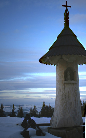 Poland-The shrine from the Tatra Mountains in winter photo