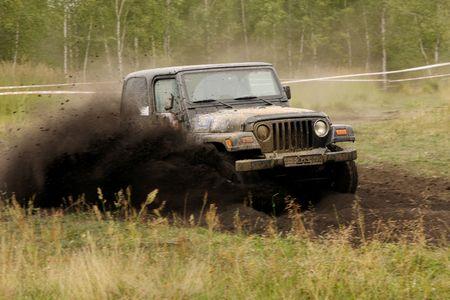 jeep: Raid 4x4 adventure race, tour in Swietochlowice, Poland, 23-08-2008 Stock Photo