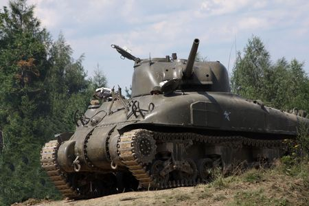 American tank Sherman M41A GRIZZLI from WW II