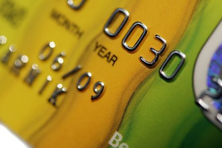 bankcard: colorful credit cards on a light background Stock Photo