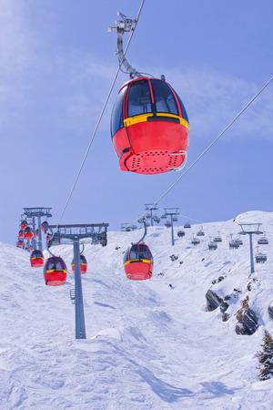 kaprun: Cablecars in ski resort Kitzsteinhorn- Kaprun, Austria