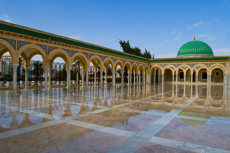 Mausoleum of Habib Bourguiba after the rain Monastir, Tunisia