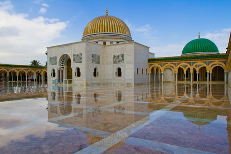 mausoleum: Mausoleum of Habib Bourguiba after the rain  Monastir, Tunisia