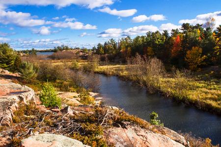 ontario: Autumn in Killarney Provincial Park, Ontario Canada