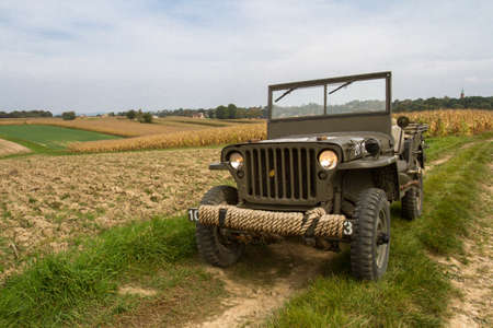 allied: Willys Jeep. Military vehicle used in the Second World War made in America