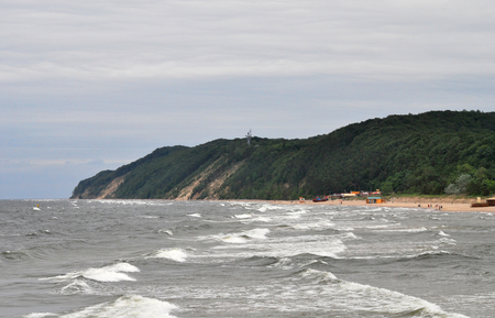 Baltic sea and cliff photo