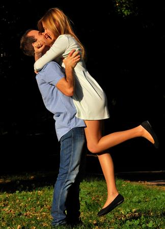 Boy and girl - romantic photo