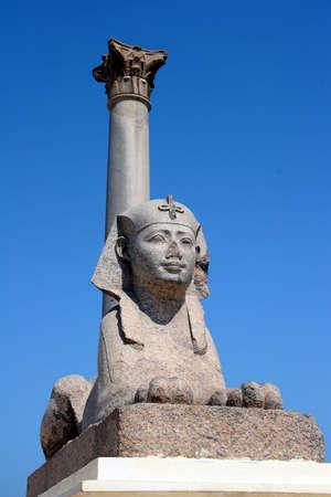 alexandra: Egypt Alexandra Pompey Pillar and Sphinx