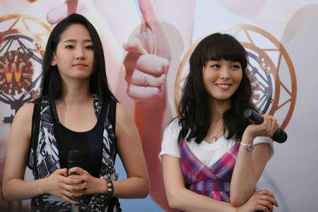 Singapore, Plaza Singapura - June 17, 2010: Korean pop idols