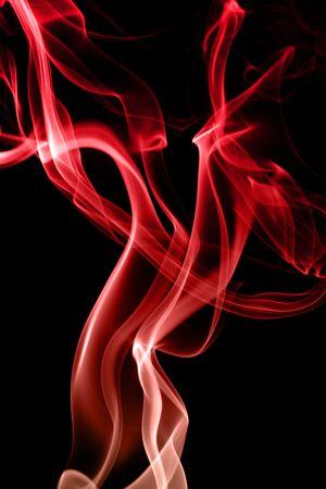 fallen angel: Smoke cloud. Fallen angel. Black background Stock Photo