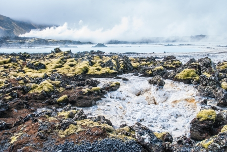 grindavik: Blue Lagoon in Iceland  Stock Photo