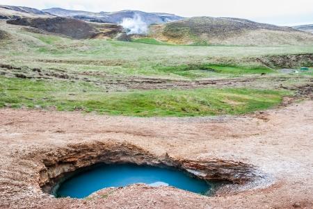 pot hole: Wild warm pool, Iceland