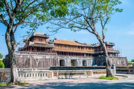gatehouse: Gateway to purple forbbiden city in Hue, Vietnam