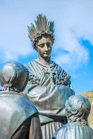 Statue of St  Mary, Holy Mother in La Salette, France Stock Photo - 16907312