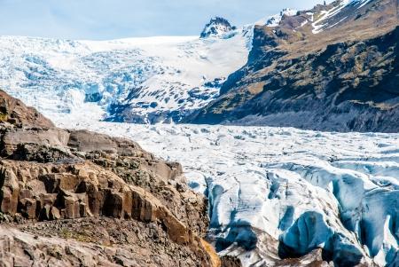 alpine tundra: Glacier in mountains, Iceland