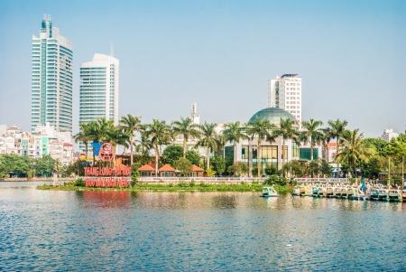 Modern city center of Hanoi, Vietnam Editorial