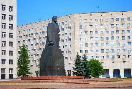 lenin: Lenin statue in Arkhangelsk, Russia  Stock Photo