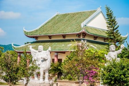 nang: Famous Pagoda near Da Nang, Vietnam