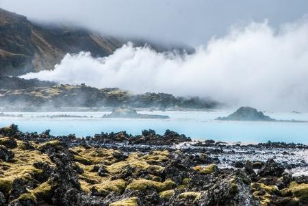 grindavik: Famous Blue Lagoon, Iceland Stock Photo