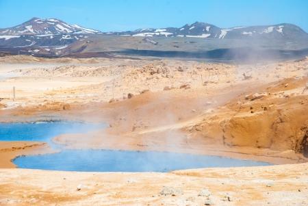 fumarole: Namaskard, natural sulfphur fumarola, Islandia Foto de archivo