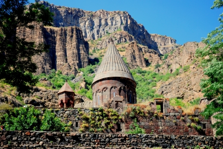 Old  Monastery of Geghard in Armenia
