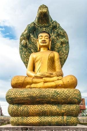 big buddha: Golden Buddha statue in Cambodia