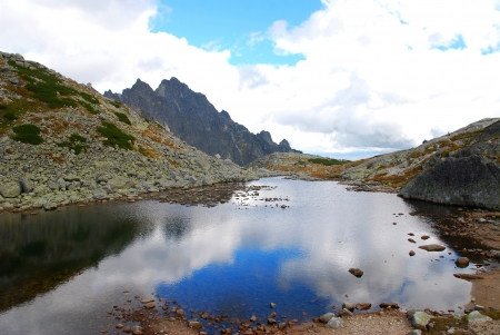 mere: Pond in Slovakian Tatra Mountains