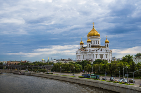 Cathedral of Christ the Savior and Moscow river