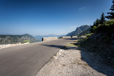 Beautiful twisted mountain road at Montenegro photo