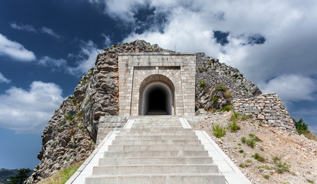 petrovich: High stairway leading to tunnel and mausoleum of Peter Njegosh, Montenegro