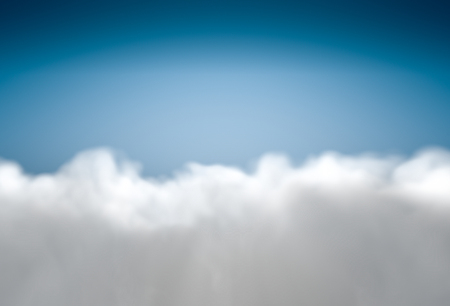 fluffy: Beautiful background with fluffy clouds at blue sky Stock Photo