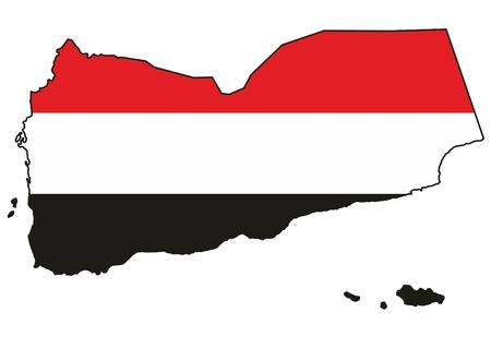 yemen: Map of Yemen, Republic of Yemen, Al-Jumhuriya,Al-Yamania Illustration