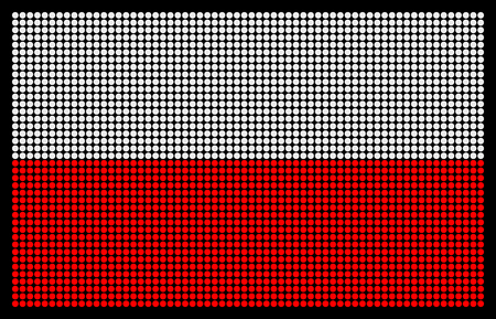 led screen: Polish flag on the LED screen