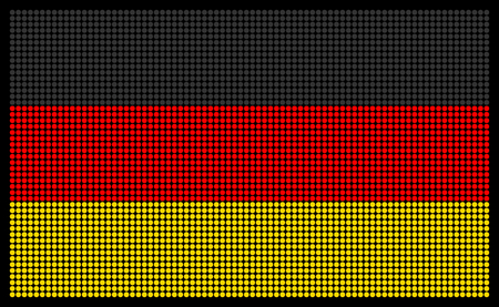 led screen: German flag on the LED screen Illustration