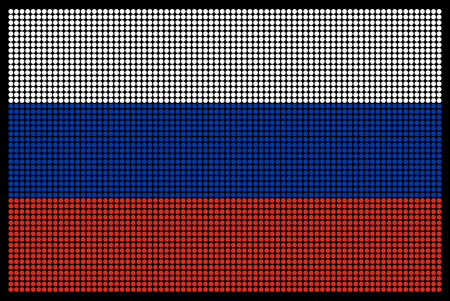 led screen: Russian flag on the LED screen