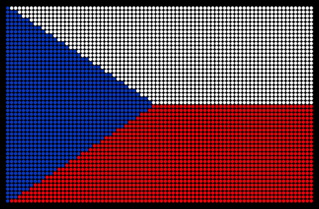 led screen: Czech Republic flag on the LED screen